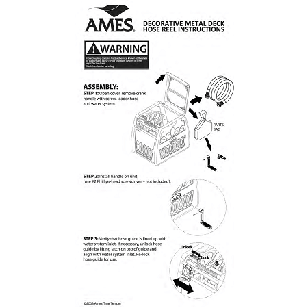 Ames Hose Reel Assembling Instructions